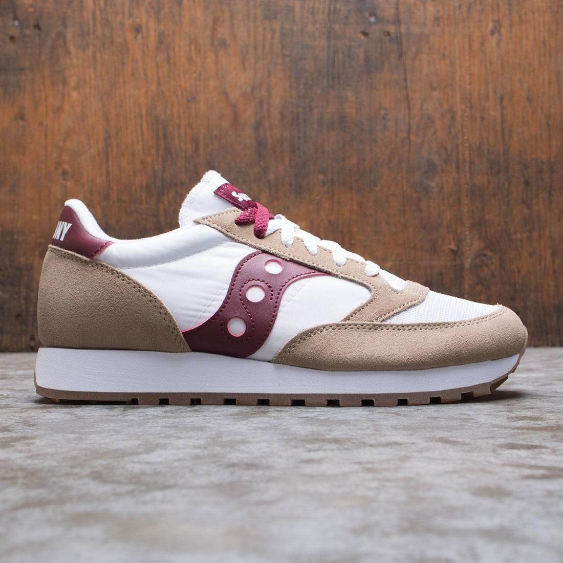 Saucony Men Jazz Original Vintage (tan / white / wine)