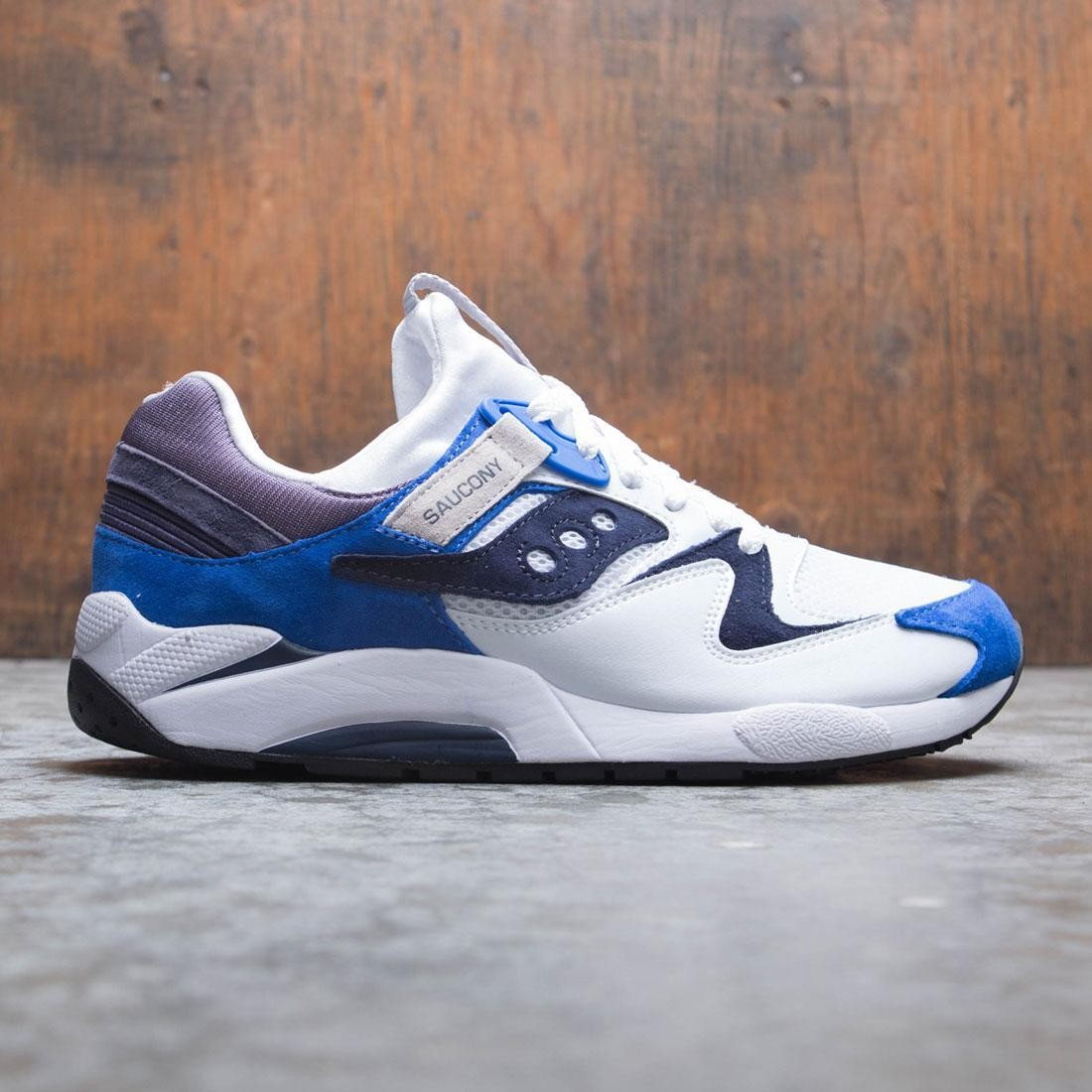 saucony grid 9000 white blue