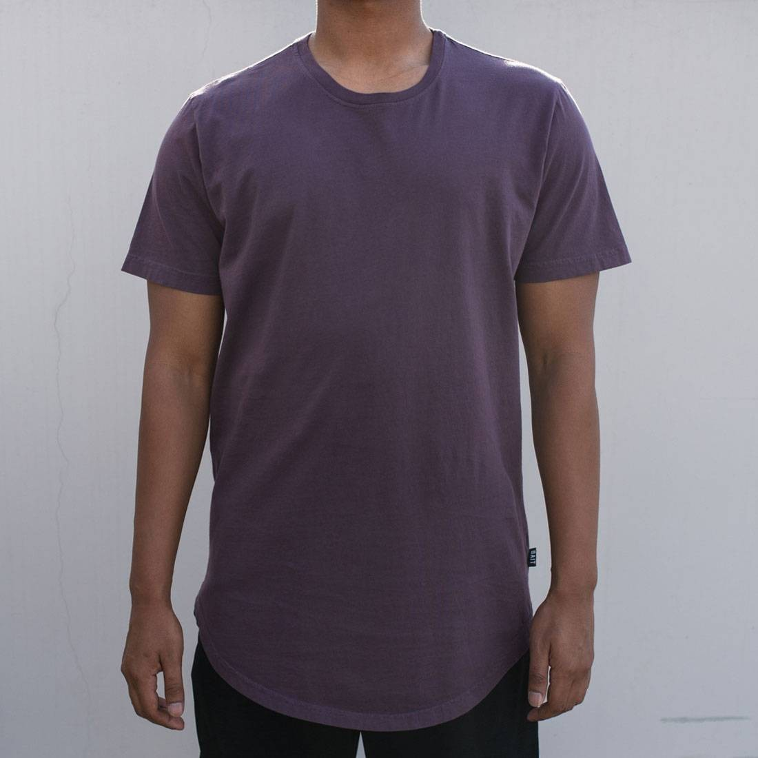 65ca00fefea BAIT Men Premium Scallop Tee - Made In Los Angeles purple plum kitten