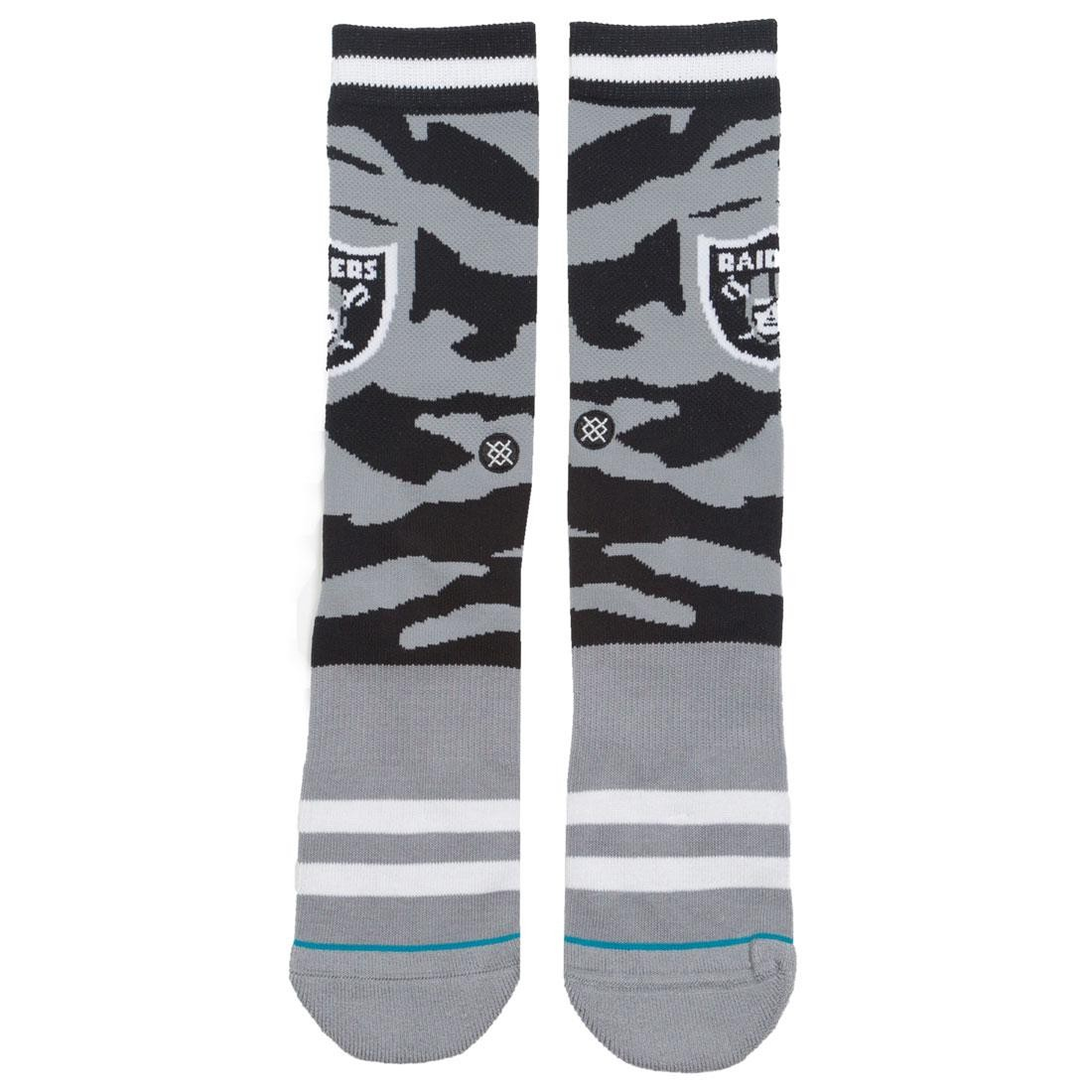 Stance x NFL Men Oakland Raiders Tigerstripe Socks (black)