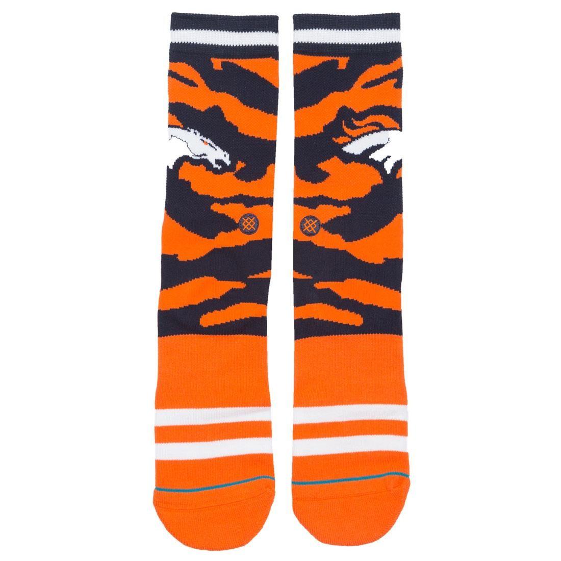 Stance x NFL Men Denver Bronco Tigerstripe Socks (orange)