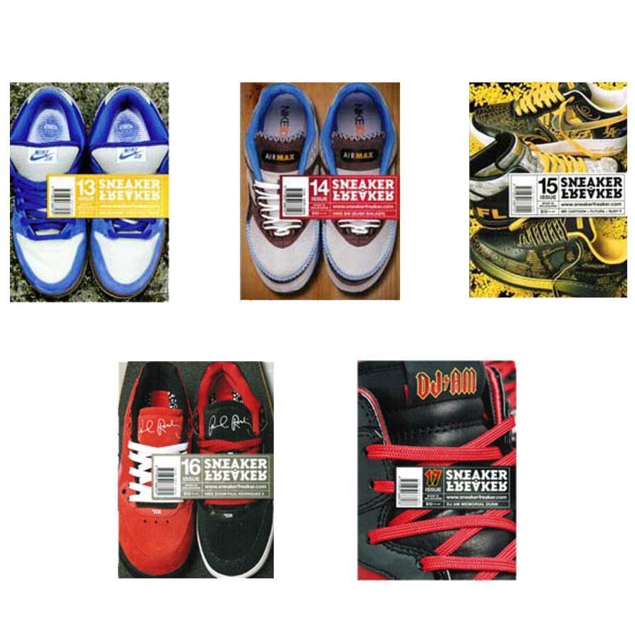 Sneaker Freaker Magazine Bundle Issues #13-17