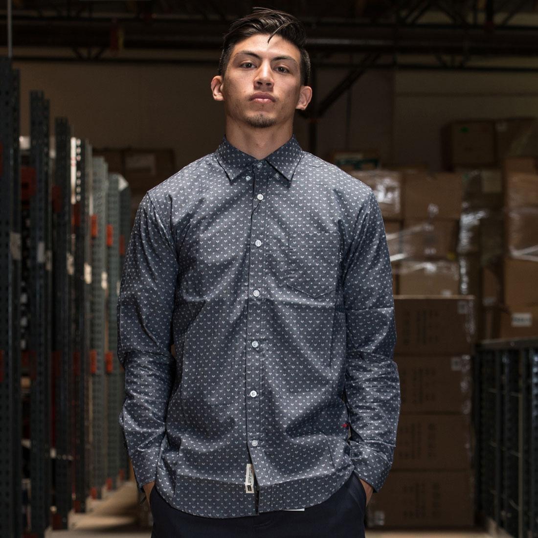 BAIT Basics Long Sleeve Shirt (blue / light blue)
