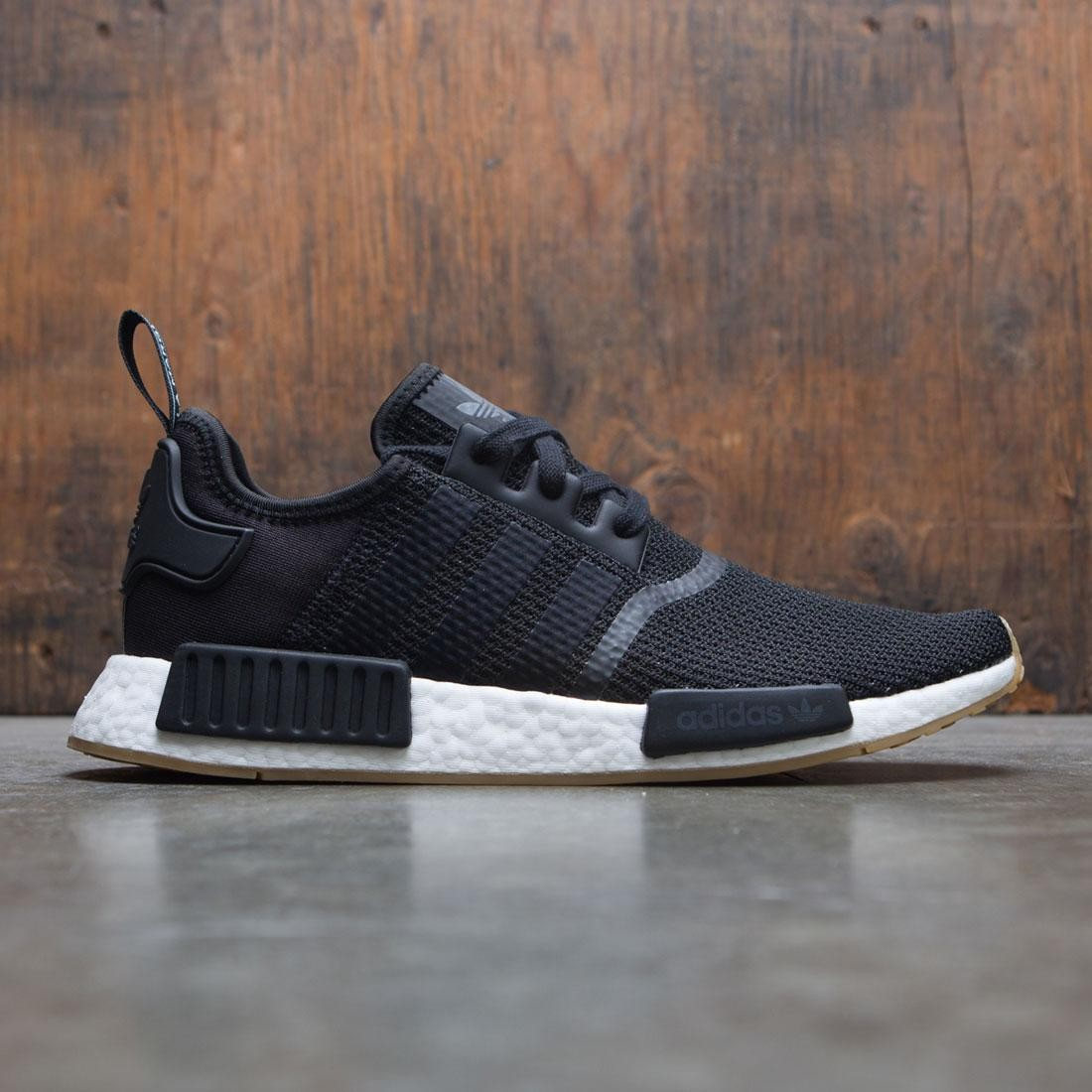 Adidas Men NMD R1 black core black gum 601d9b998