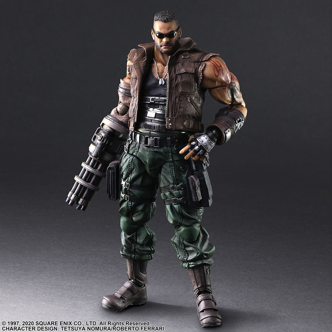 PREORDER - Square Enix Final Fantasy VII Remake Play Arts Kai Barret Wallace Ver. 2 Figure (brown)