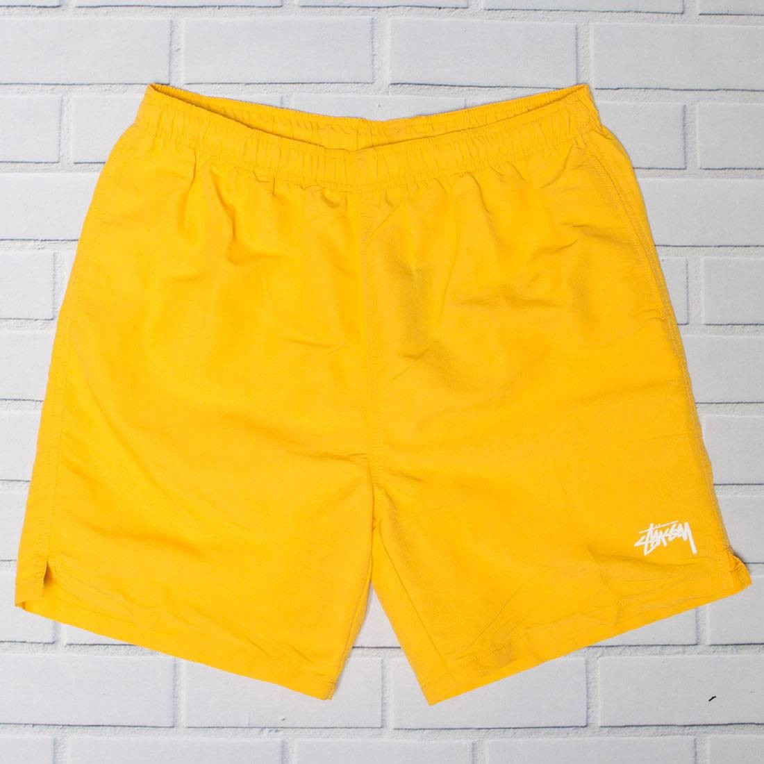 Stussy Men Stock Elastic II Waist Shorts (yellow / gold)