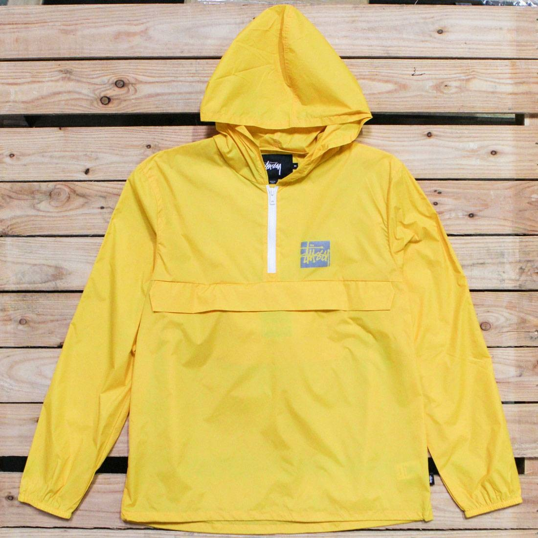 Stussy Men Stock Packable Pullover Jacket (yellow)