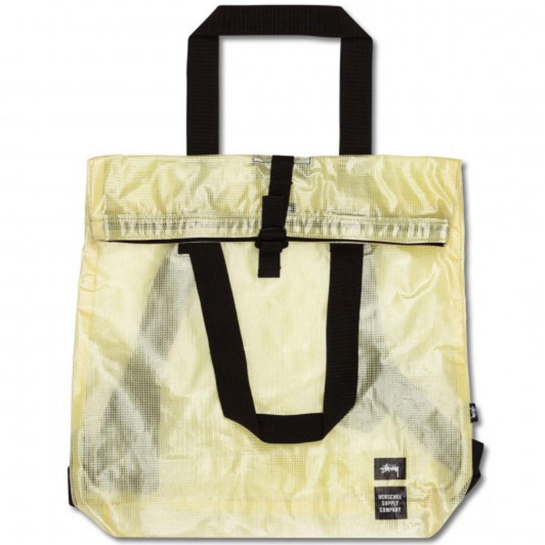 Stussy x Herschel Supply Co Tall Tote Bag - Clear Tarp Collab (white / clear)