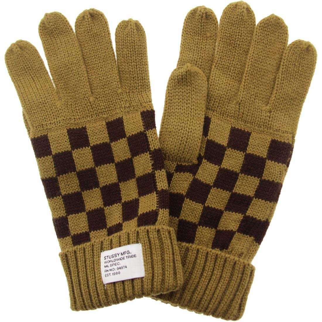 Stussy Checkerboard Gloves (brown)