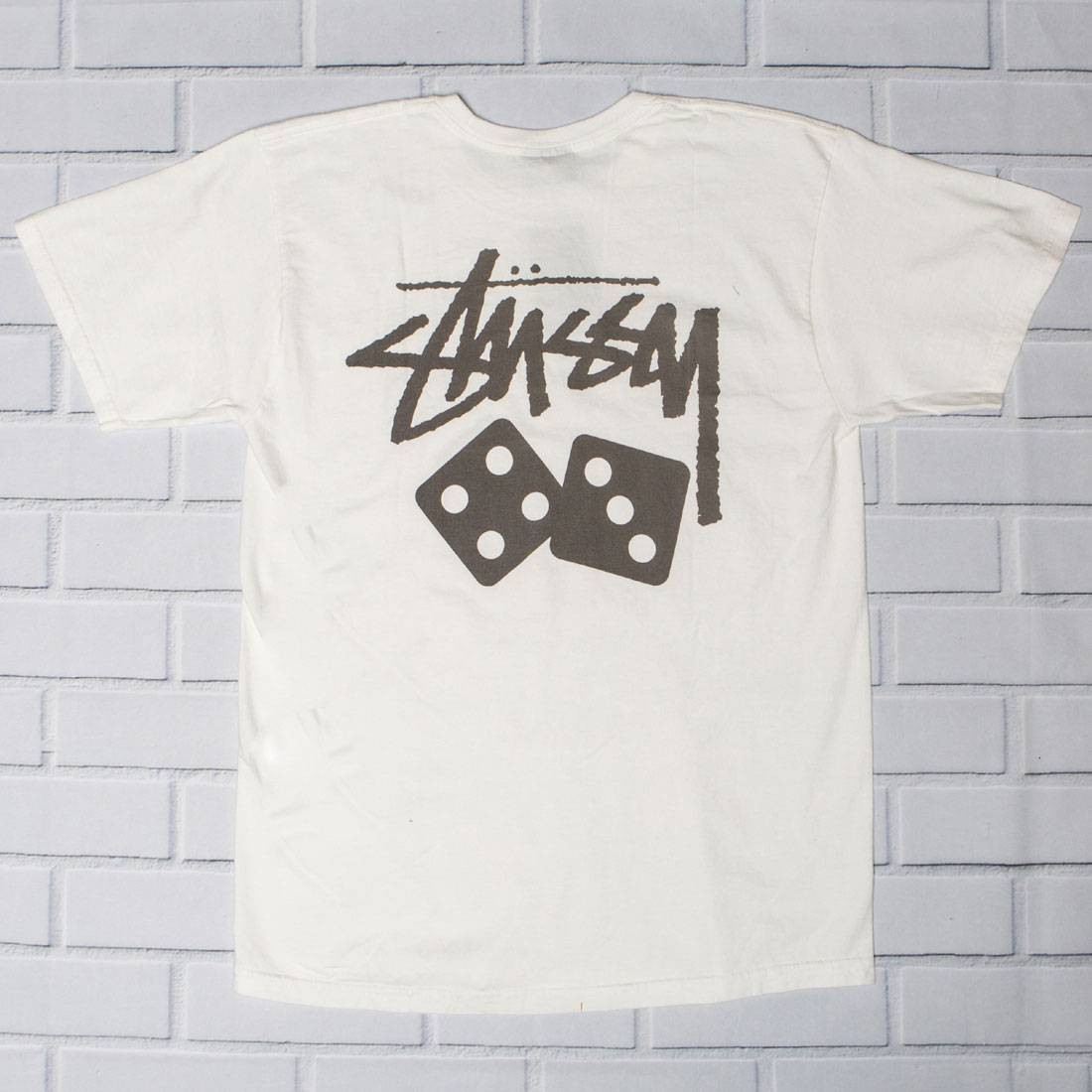 Stussy Men Dice Pigment Dyed Tee (white / natural)