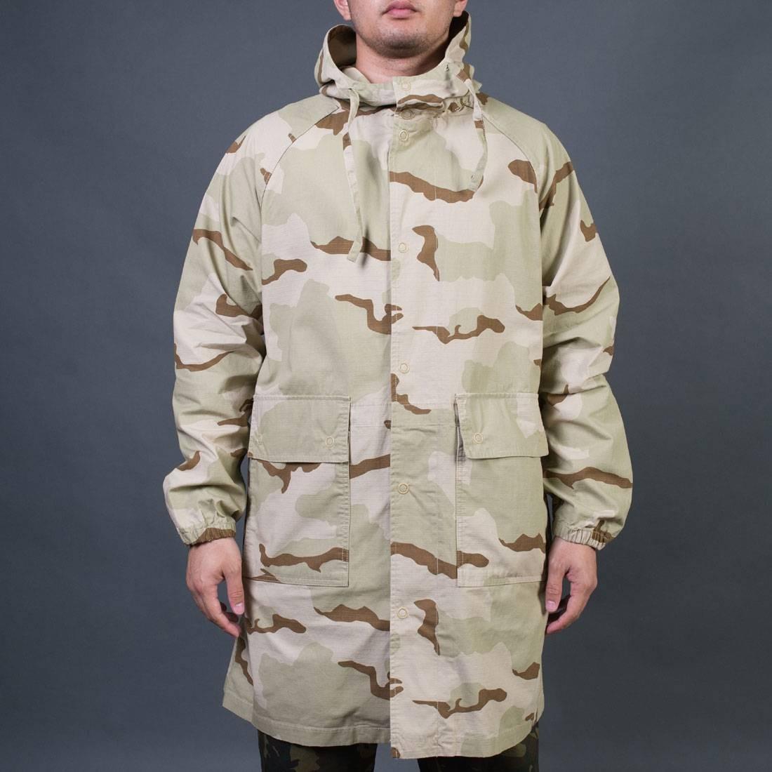 Stussy Men Light Ripstop Hooded Jacket (camo)