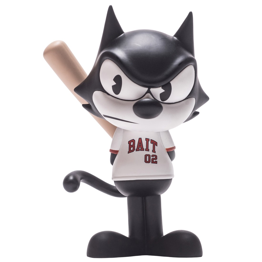 BAIT x Dreamworks x SWITCH Collectibles Felix the Cat Slugger 6 Inch Figure - Orange County Exclusive (black / white)