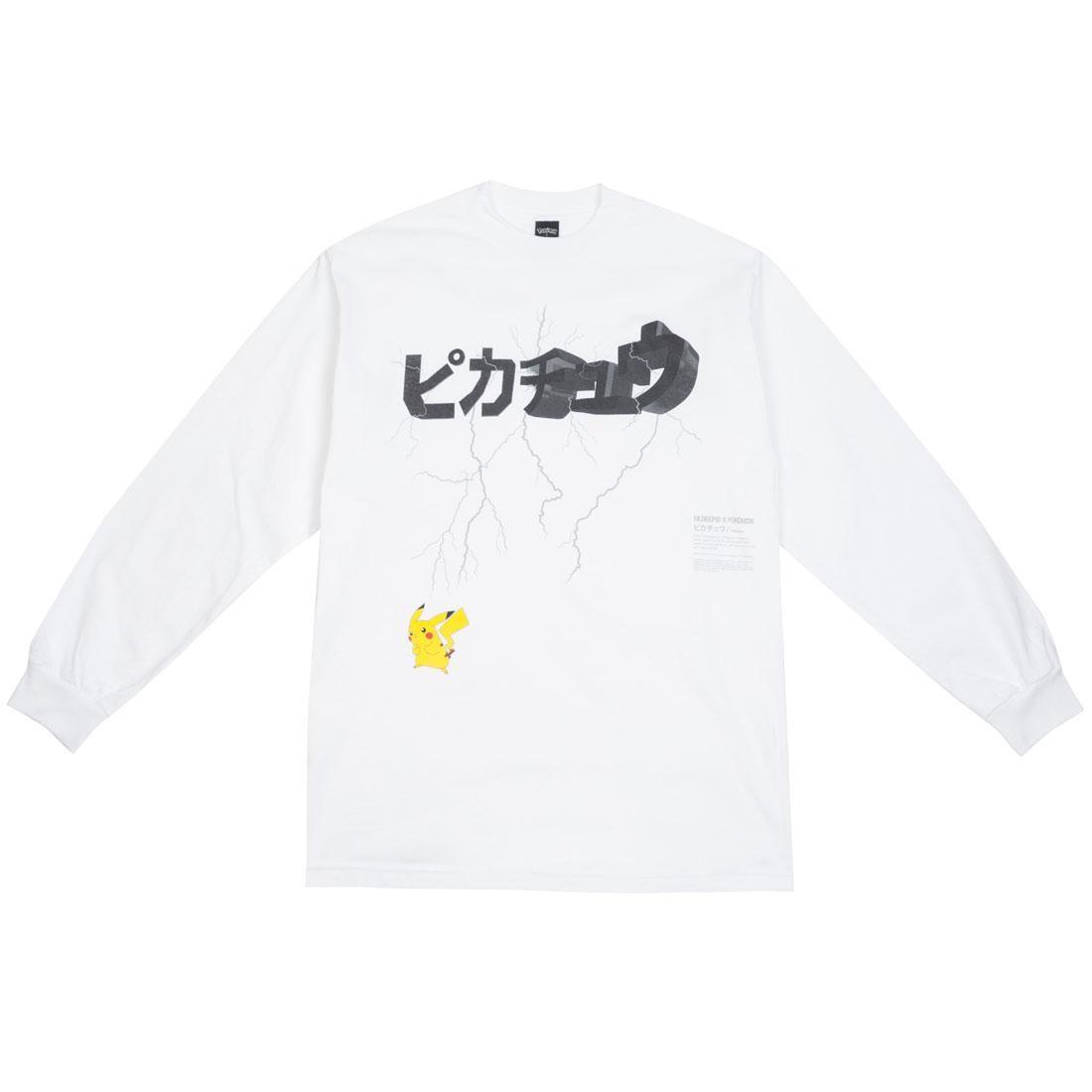 BAIT Exclusive 10 Deep x Pokemon Men Lightning Strike Long Sleeve Tee (white)