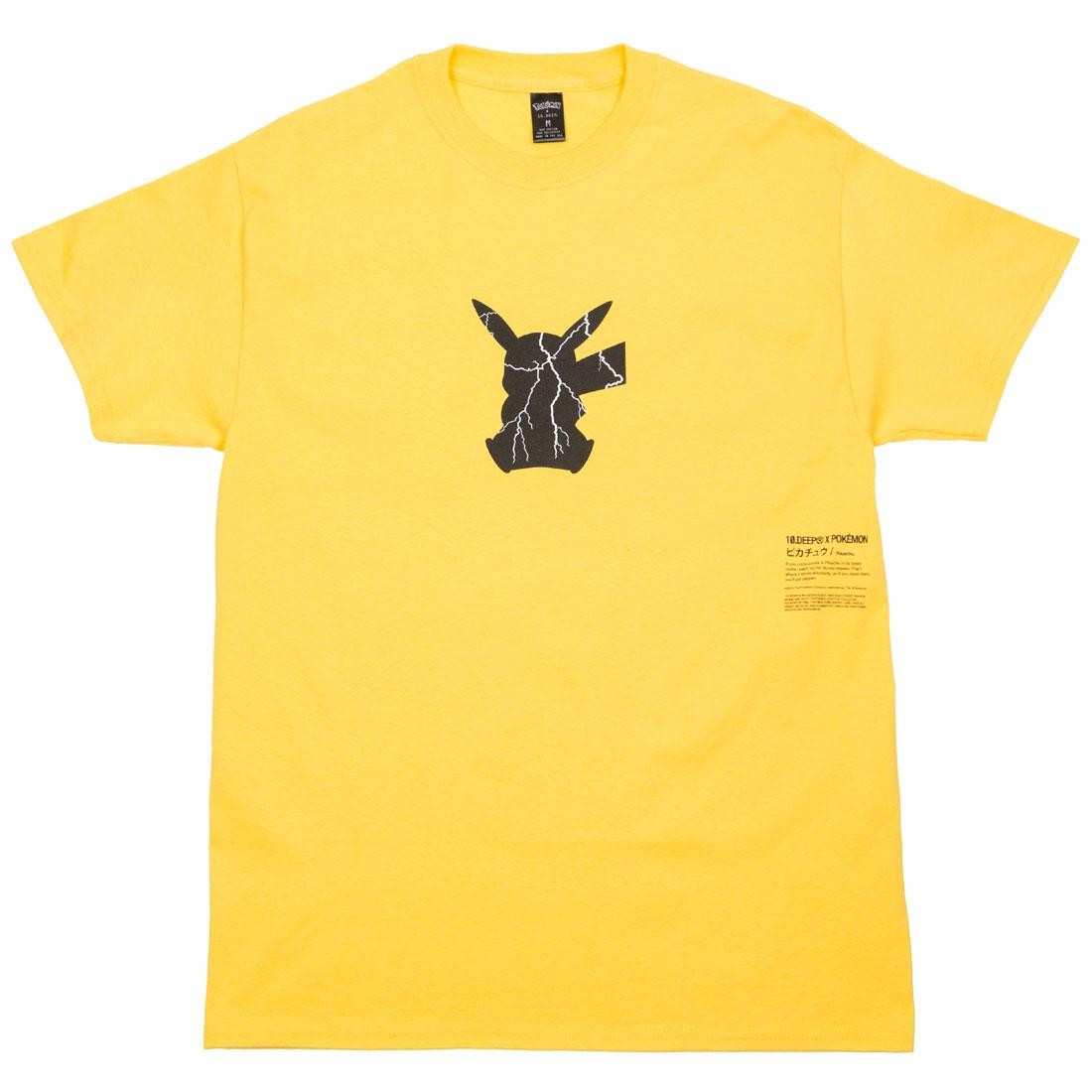 BAIT Exclusive 10 Deep x Pokemon Men Shadow Shock Tee (yellow)