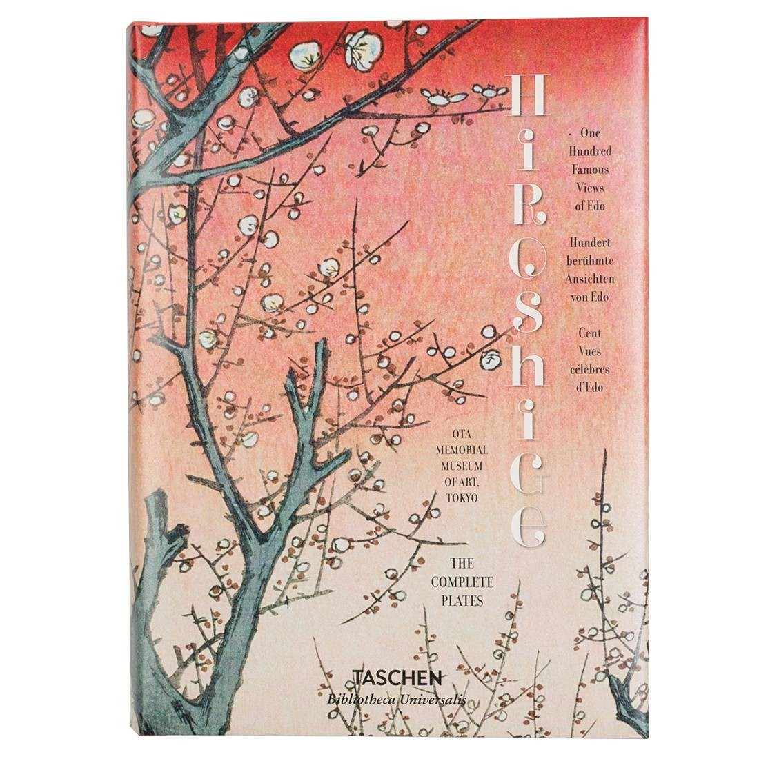 Hiroshige One Hundred Famous Views of Edo Hardcover Book (red / hardcover)