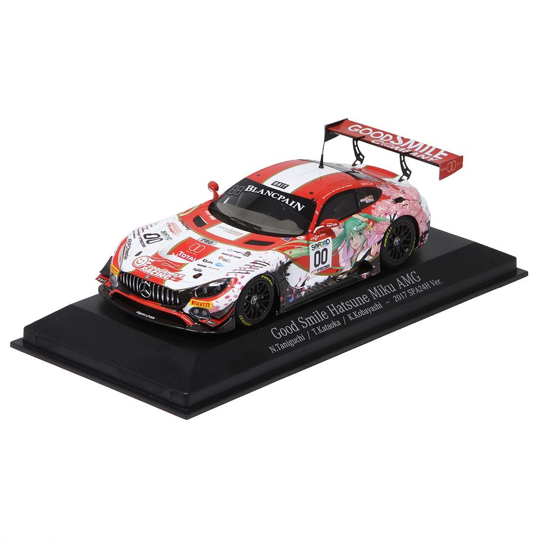Good Smile Racing Hatsune Miku GT Project AMG 2017 Spa 24 Hours Version 1/43 Scale (red)