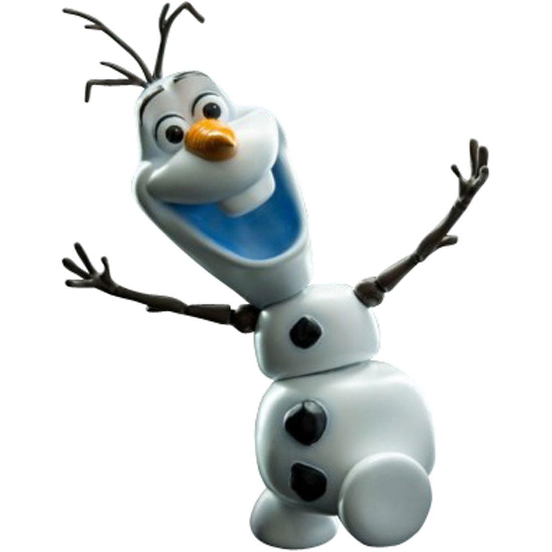 Herocross Hybrid Metal Figuration #018 Frozen Olaf Diecast Figure (white)