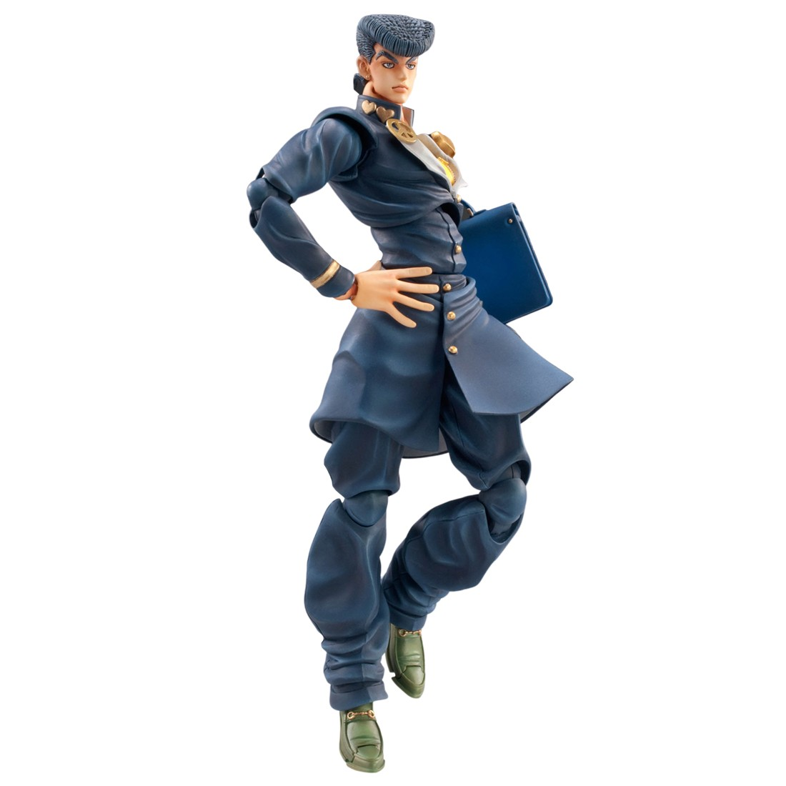 Medicos Super Action Statue JoJo's Bizarre Adventure Part 4 Diamond Is Unbreakable Josuke Higashikata Chozokado Figure Re-Run (blue)