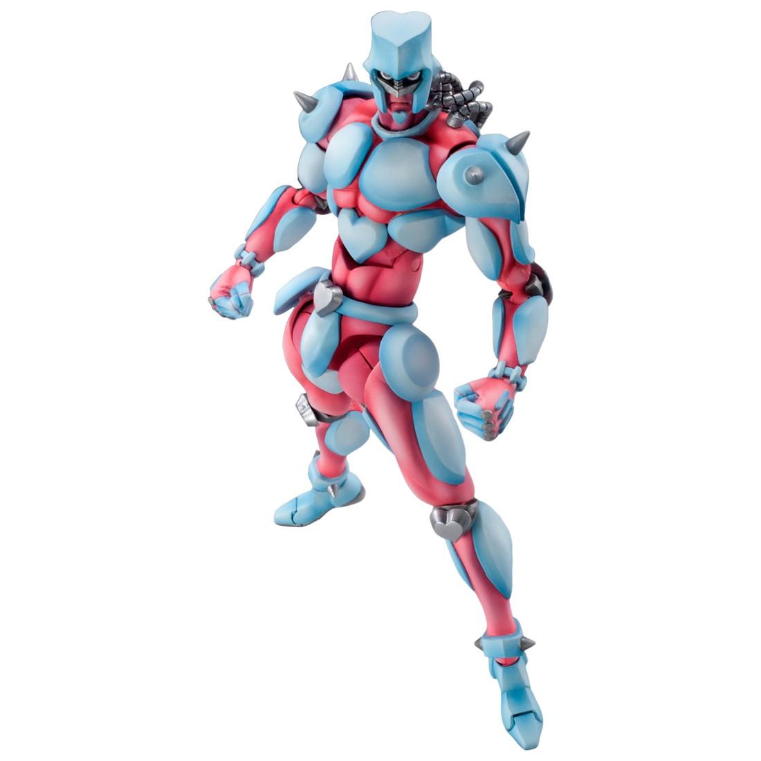 Medicos Super Action Statue JoJo's Bizarre Adventure Part 4 Diamond Is Unbreakable Crazy Diamond Chozokado Figure Re-Run (blue)