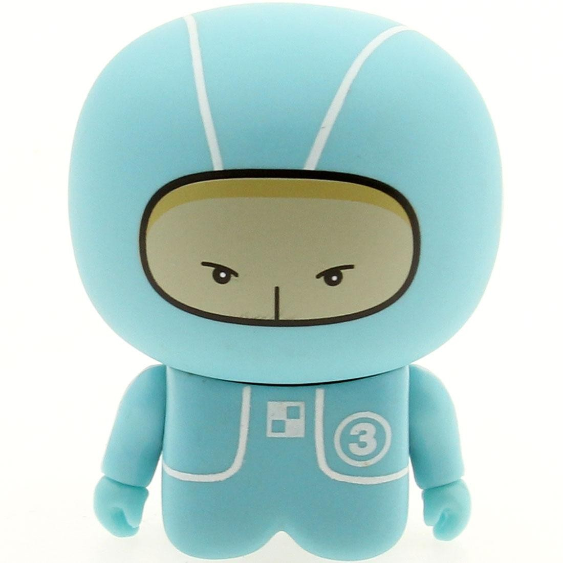 Unkl UniPO Speed Demons 3 Light Blue Tot Mini Figure Series 5 (blue / light blue)