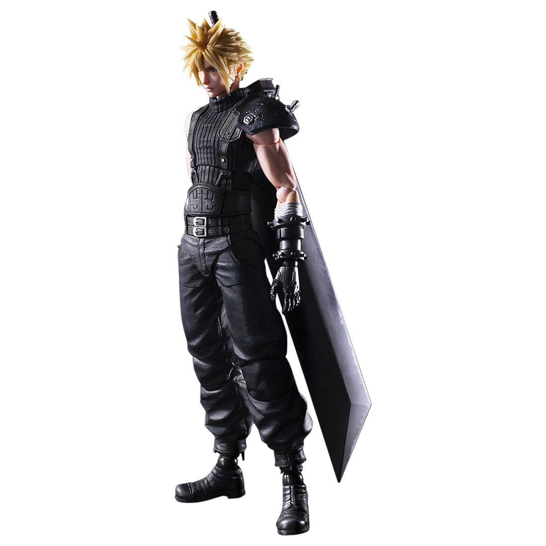 Square Enix Final Fantasy VII Remake Play Arts Kai Cloud Strife Ver. 2 Figure (black)