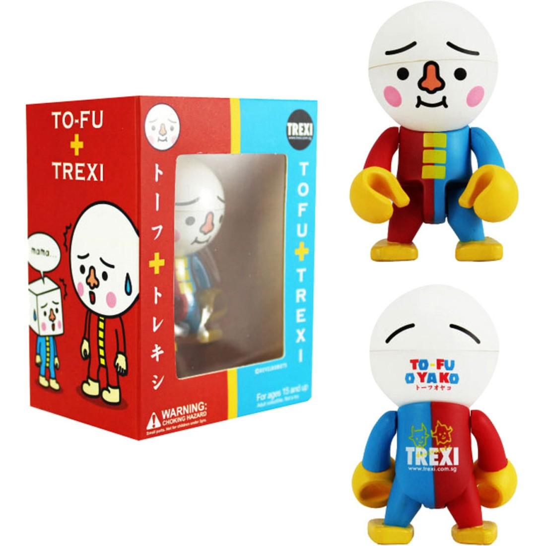 red // blue To-Fu Tofu Oyako 2.5 Inch Trexi Figure