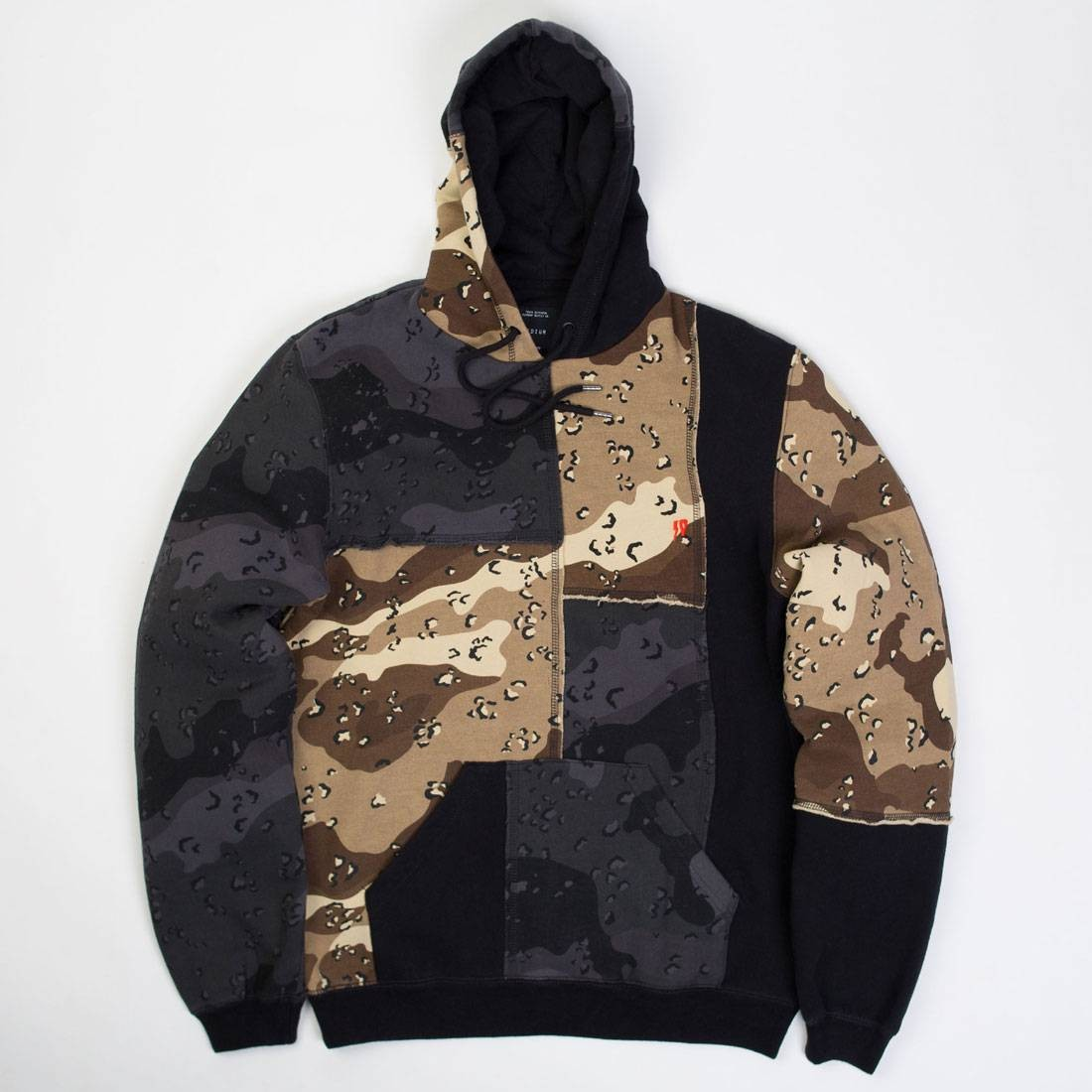 10 Deep Men Day And Night Pieced Hoodie (multi)