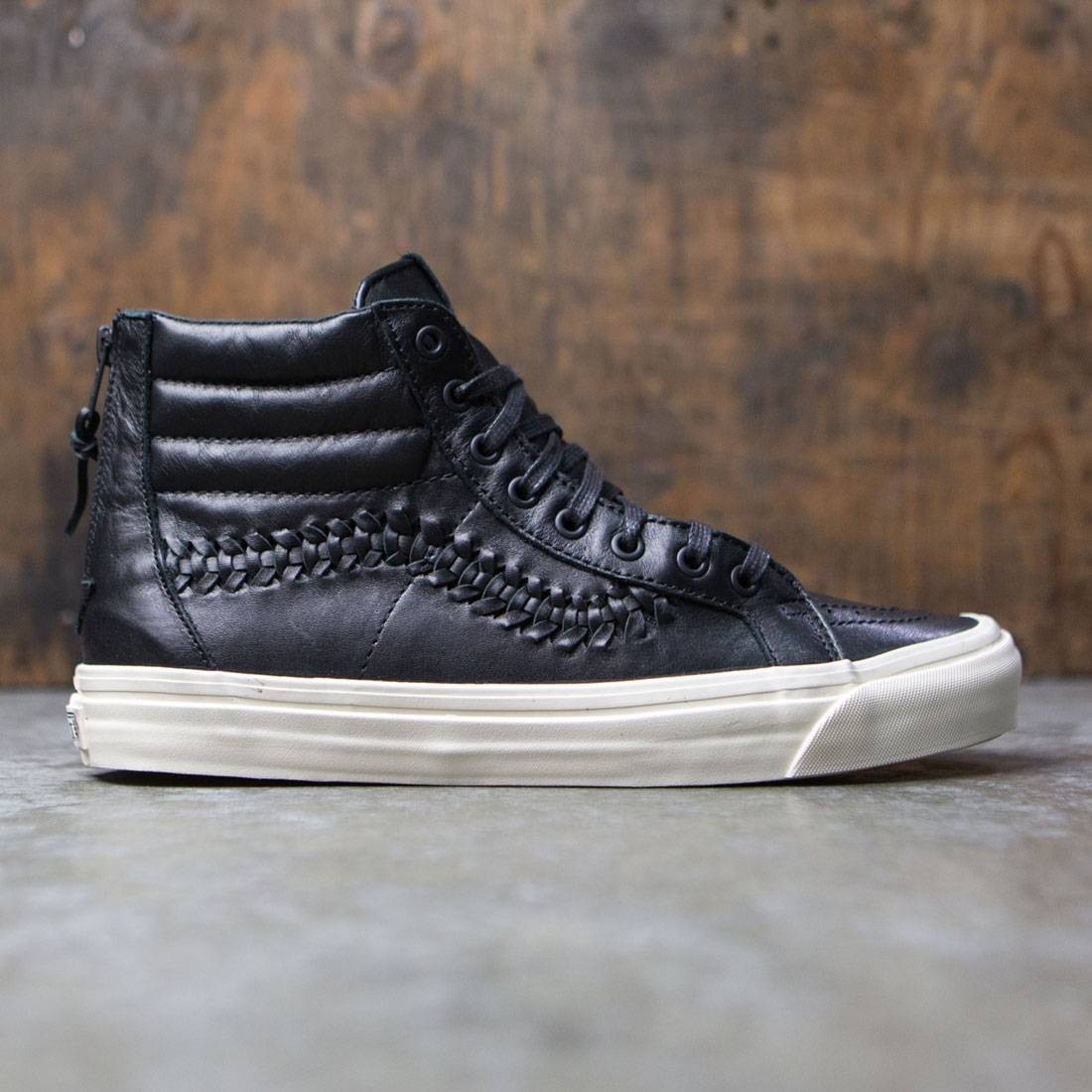 04a3a9078ac0 Vans Men Sk8-Hi Zip Weave DX - Leather black