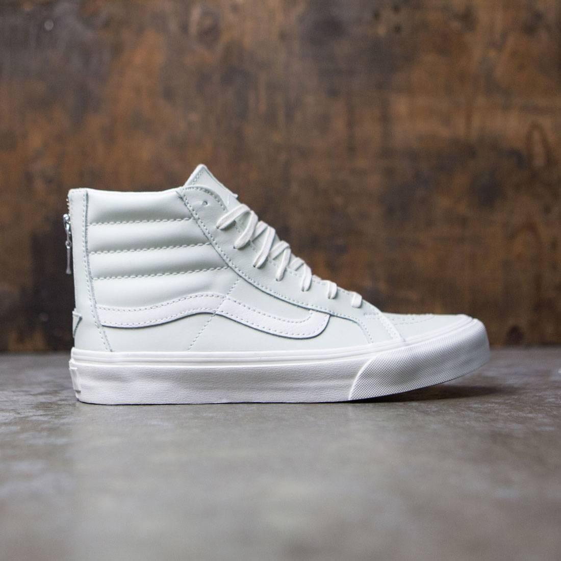 c58bef9457 Vans Women Sk8-Hi Slim Zip - Leather blue zephyr blanc de blanc