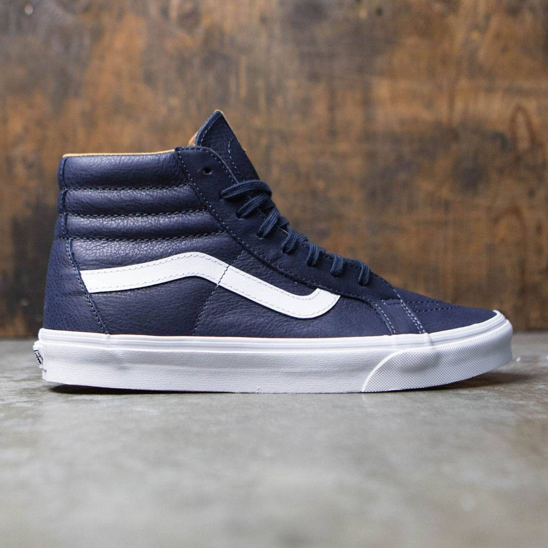 6d12b3f425 Vans Men Sk8-Hi Reissue - Premium Leather blue parisian night true white