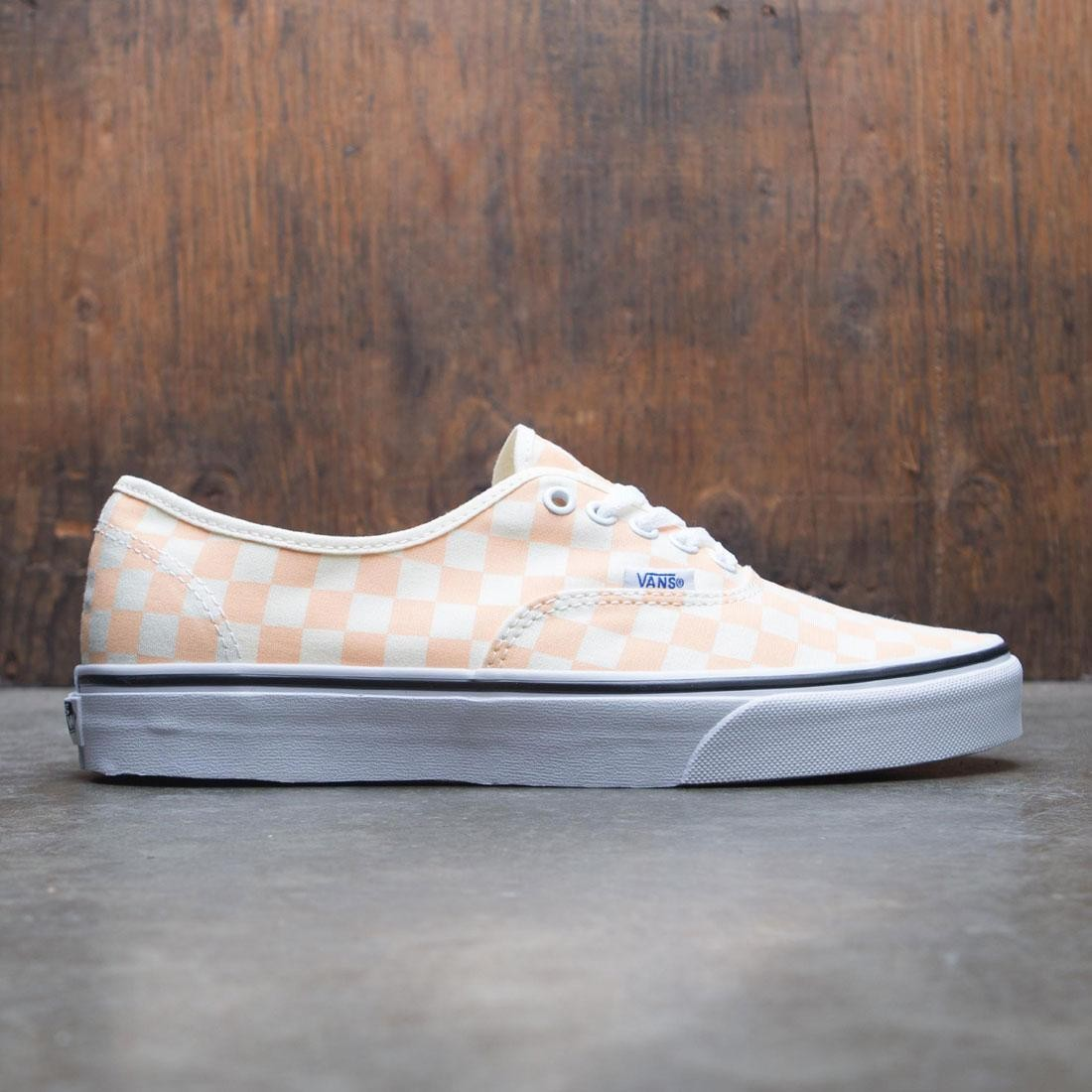 fa7cd67d44 Vans Men Authentic - Checkerboard pink peach apricot