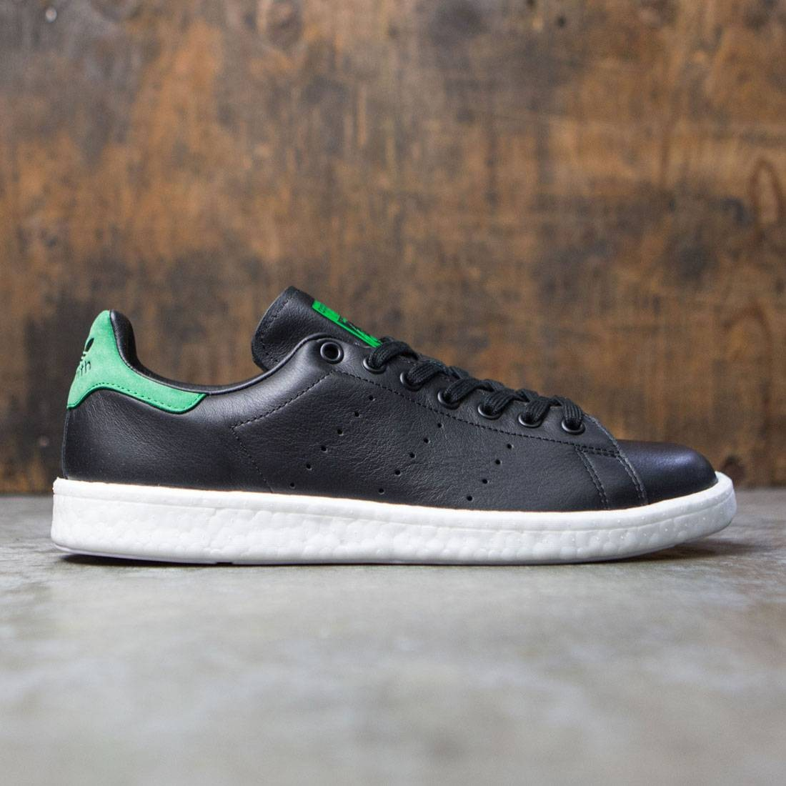 new product 0cbbb c1e40 Adidas Men Stan Smith Boost (black / core black / green)