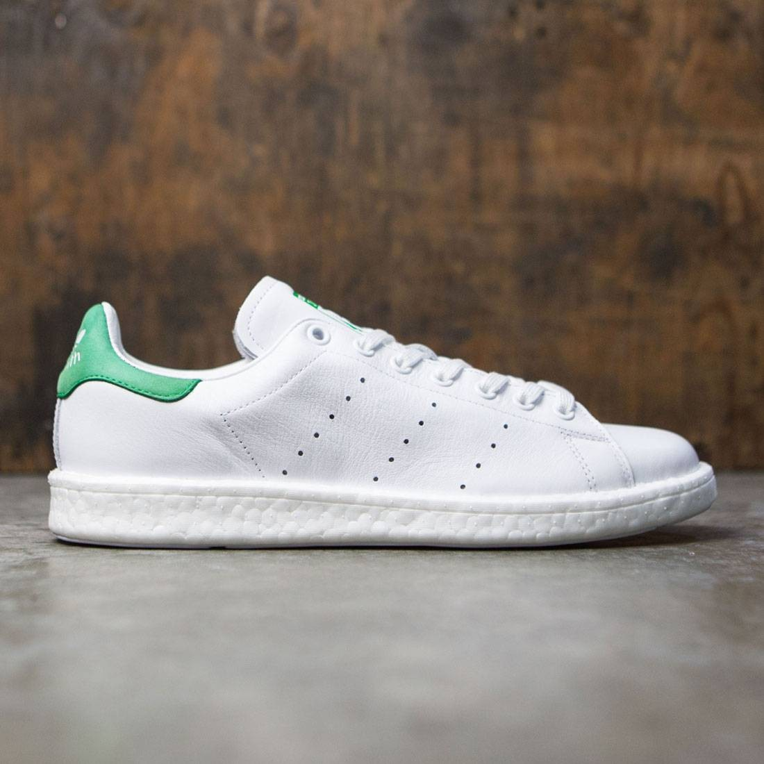 eb569b21d9e Adidas Men Stan Smith Boost white footwear white green