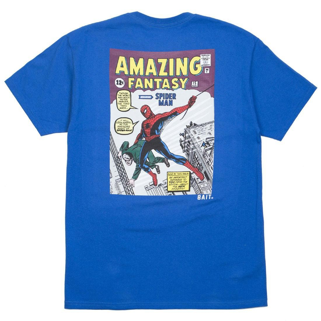 34e25202 BAIT x Marvel Comics Men Amazing Spiderman Tee blue