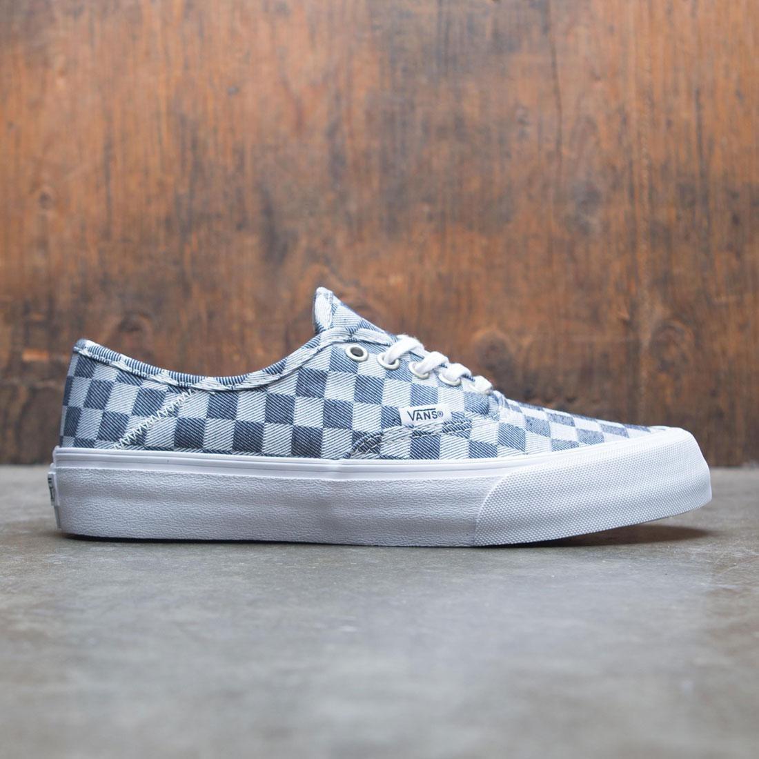 najlepsze oferty na Wielka wyprzedaż nowe promocje Vans Men Authentic SF - Checkerboard Denim (blue / denim / gray)
