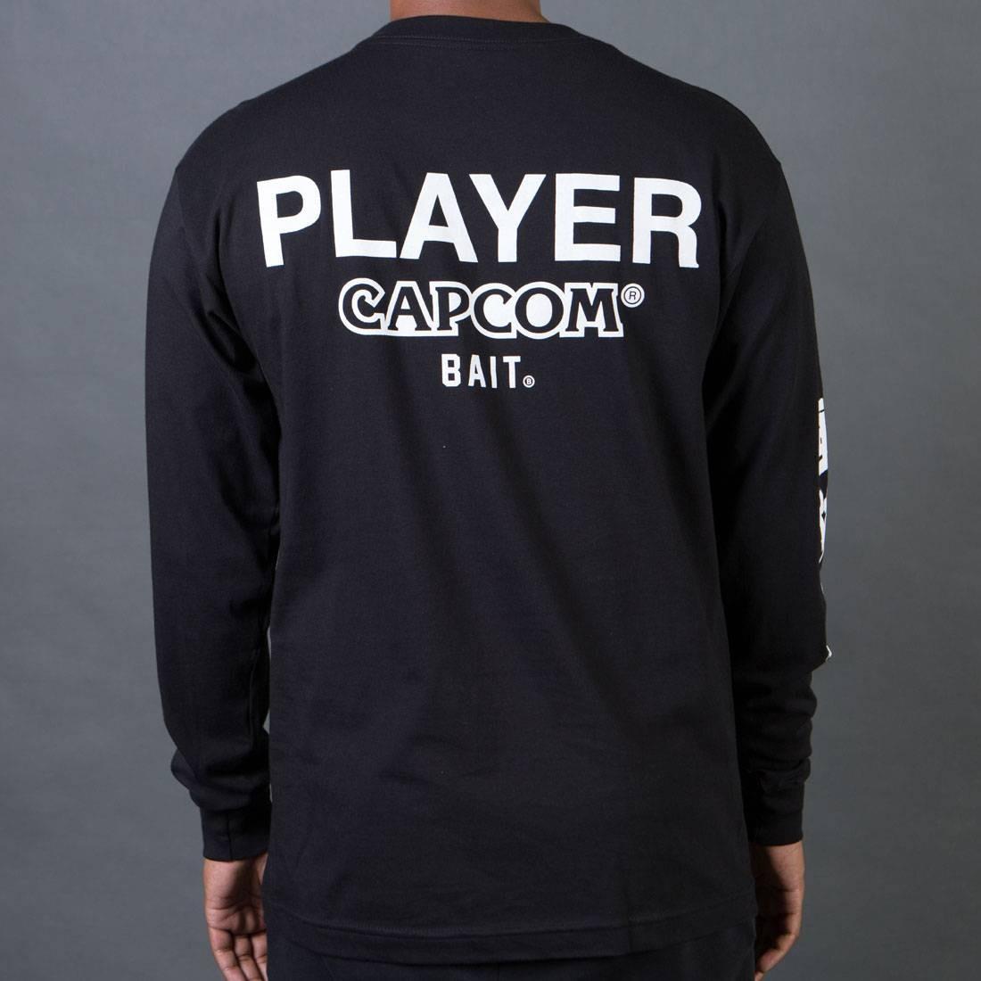 BAIT x Street Fighter Men Capcom Player Long Sleeve Tee (black)