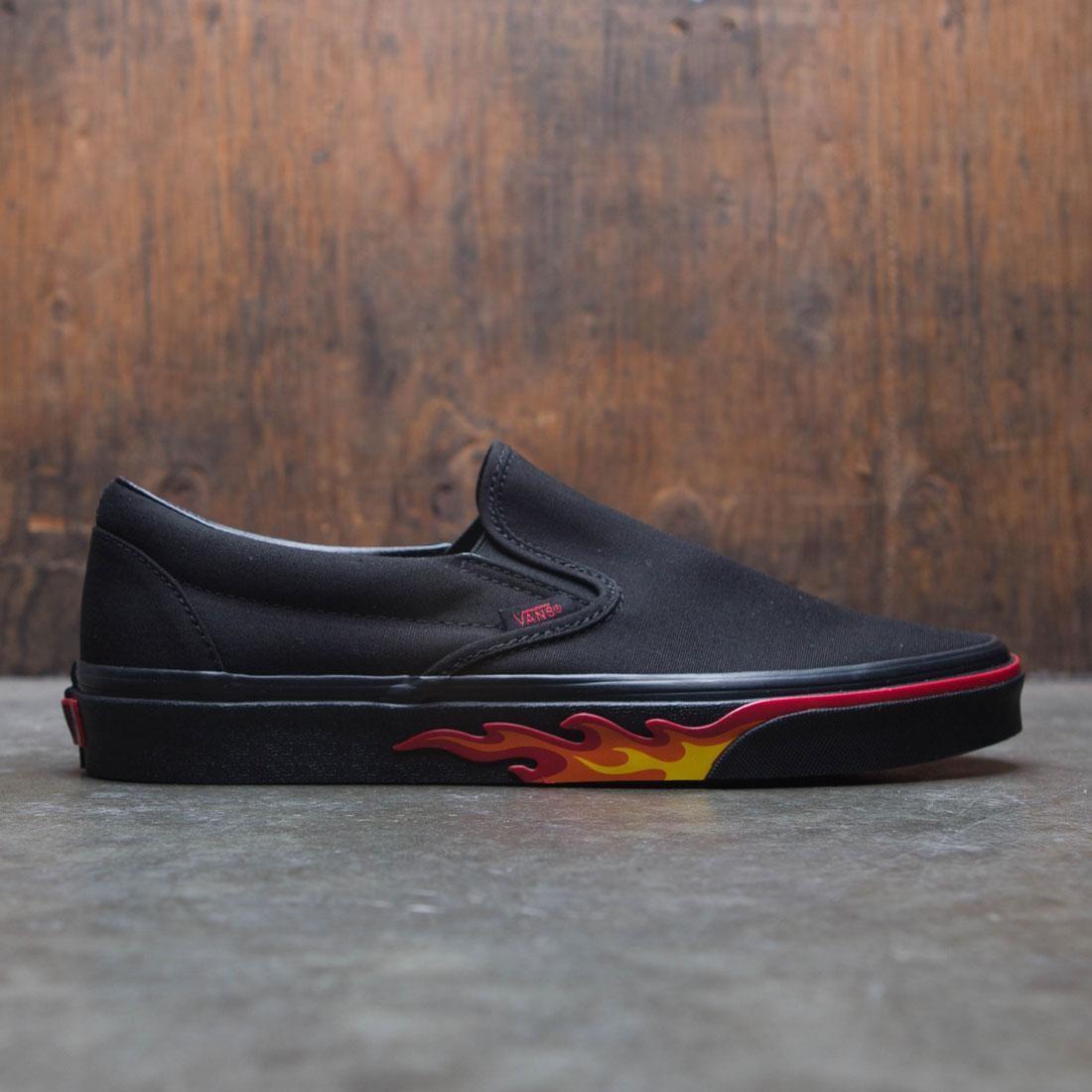 Vans Men Classic Slip-On - Black Flame