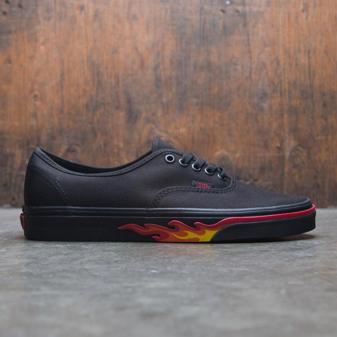 3e159b6b214 Vans Men Authentic - Black Flame Wall black flames