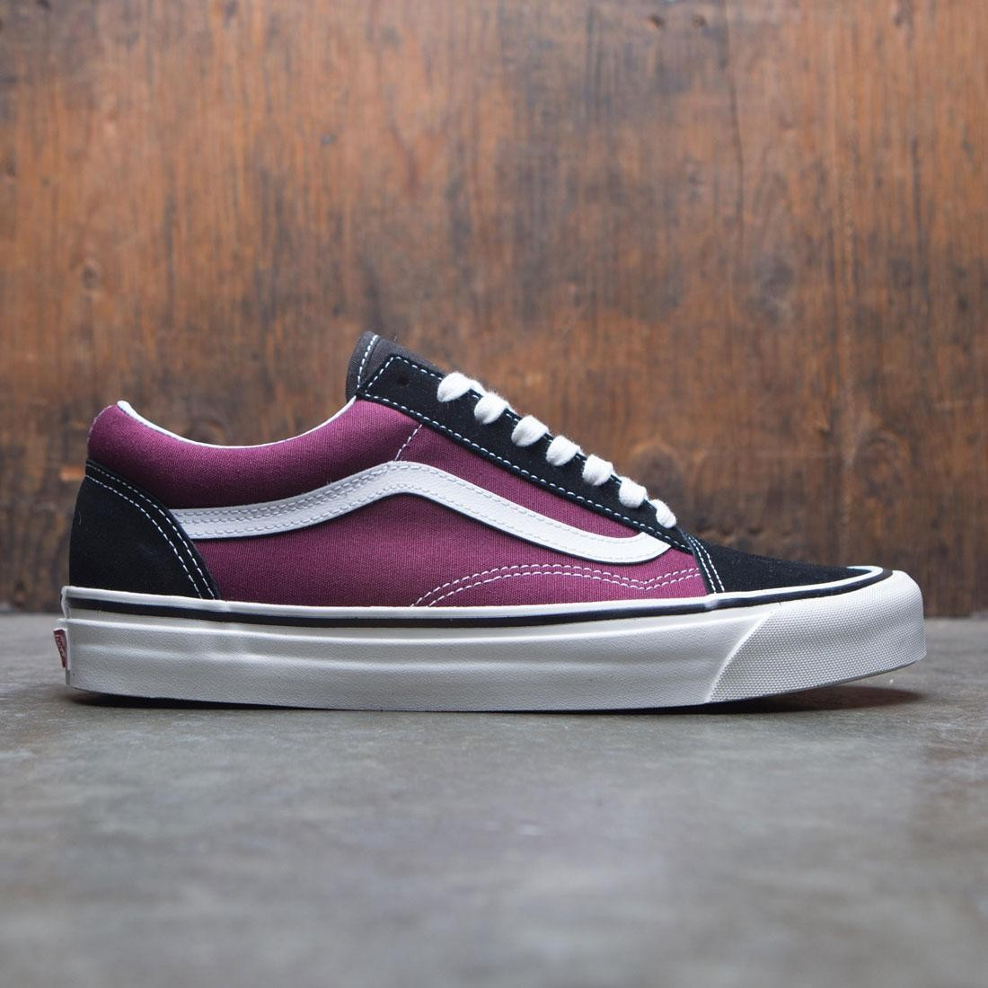 ece60c9b82 Vans Men Old Skool DX - Anaheim burgundy white black