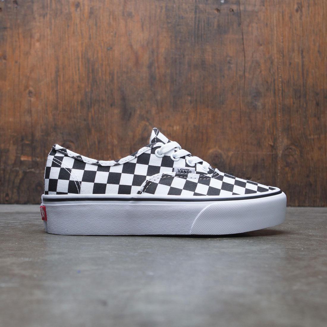 360bee97a9 vans women authentic platform checkerboard black white