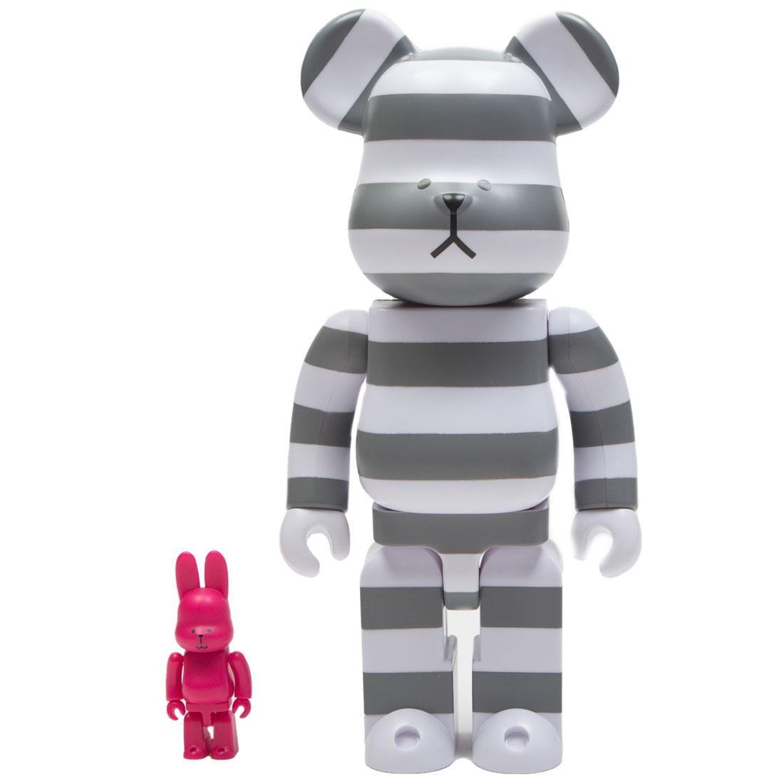 Medicom Craftholic 100% Rabbrick 400% Bearbrick Figure Set (white / pink)