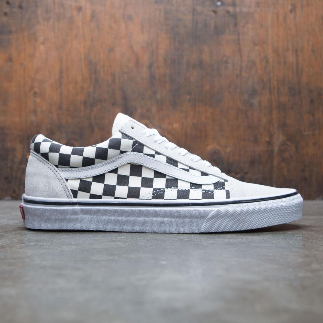 vans old skool checkerboard white