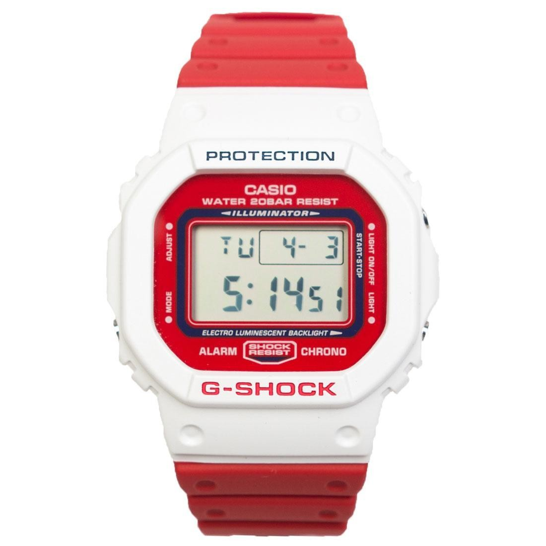 G-Shock Watches DW5600TB-4A (white / red)