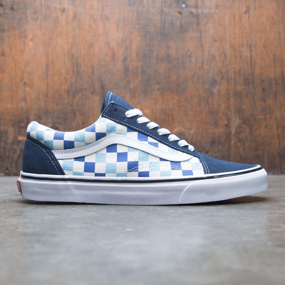 ec93e69e4a9c71 Vans Men Old School - Checkerboard blue topaz