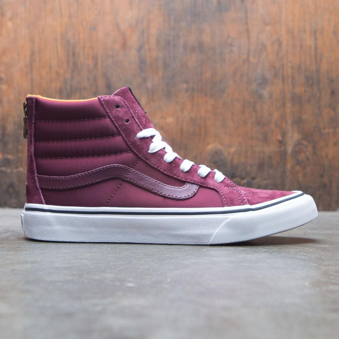 eeb1341de9 Vans Men SK8-Hi Slim Zip - Boom Boom burgundy port royale