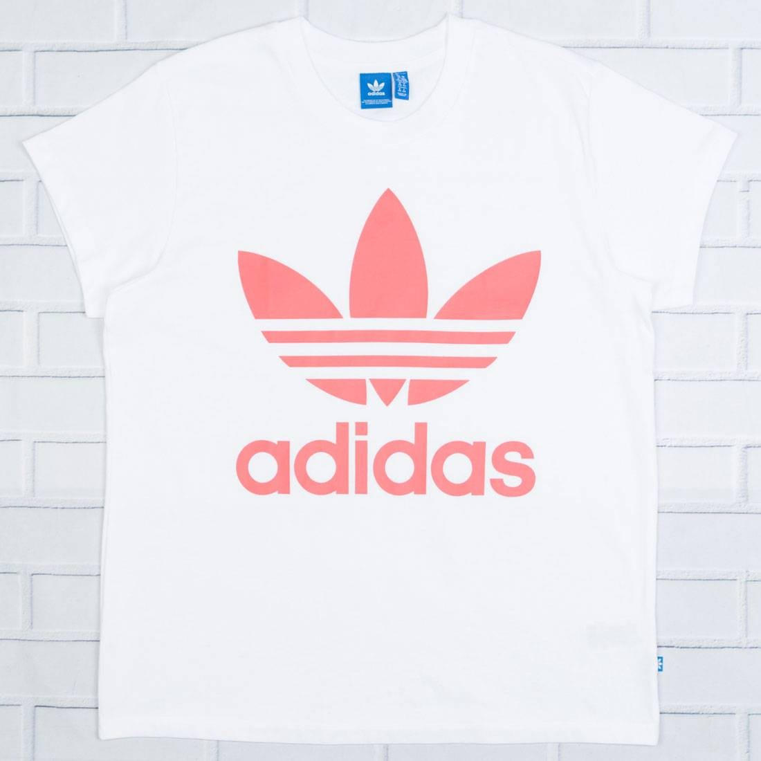 Adidas Women Big Trefoil Tee (white / turbo)