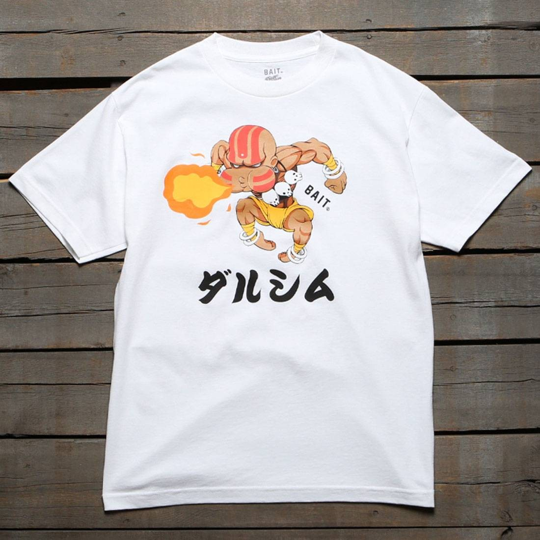 BAIT x Street Fighter Men Chibi Dhalsim Tee (white)