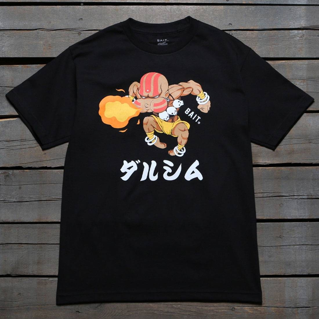 BAIT x Street Fighter Men Chibi Dhalsim Tee (black)