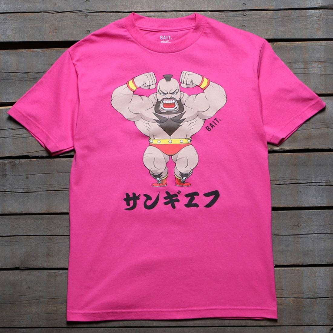 BAIT x Street Fighter Men Chibi Zangief Tee (pink / hot pink)
