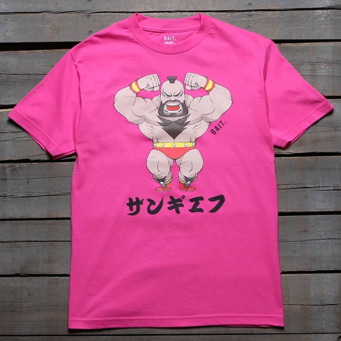 BAIT x Street Fighter Men Chibi Zangief Tee (pink / hot pink)